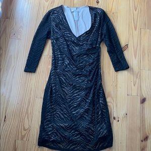 Laundry Black Lace Animal Print Dress